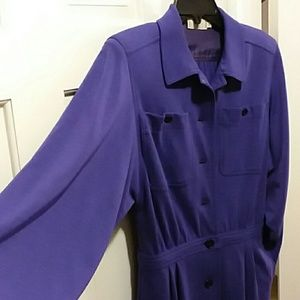 "Vintage 1980s Valentino ""Miss V"" shirt dress"